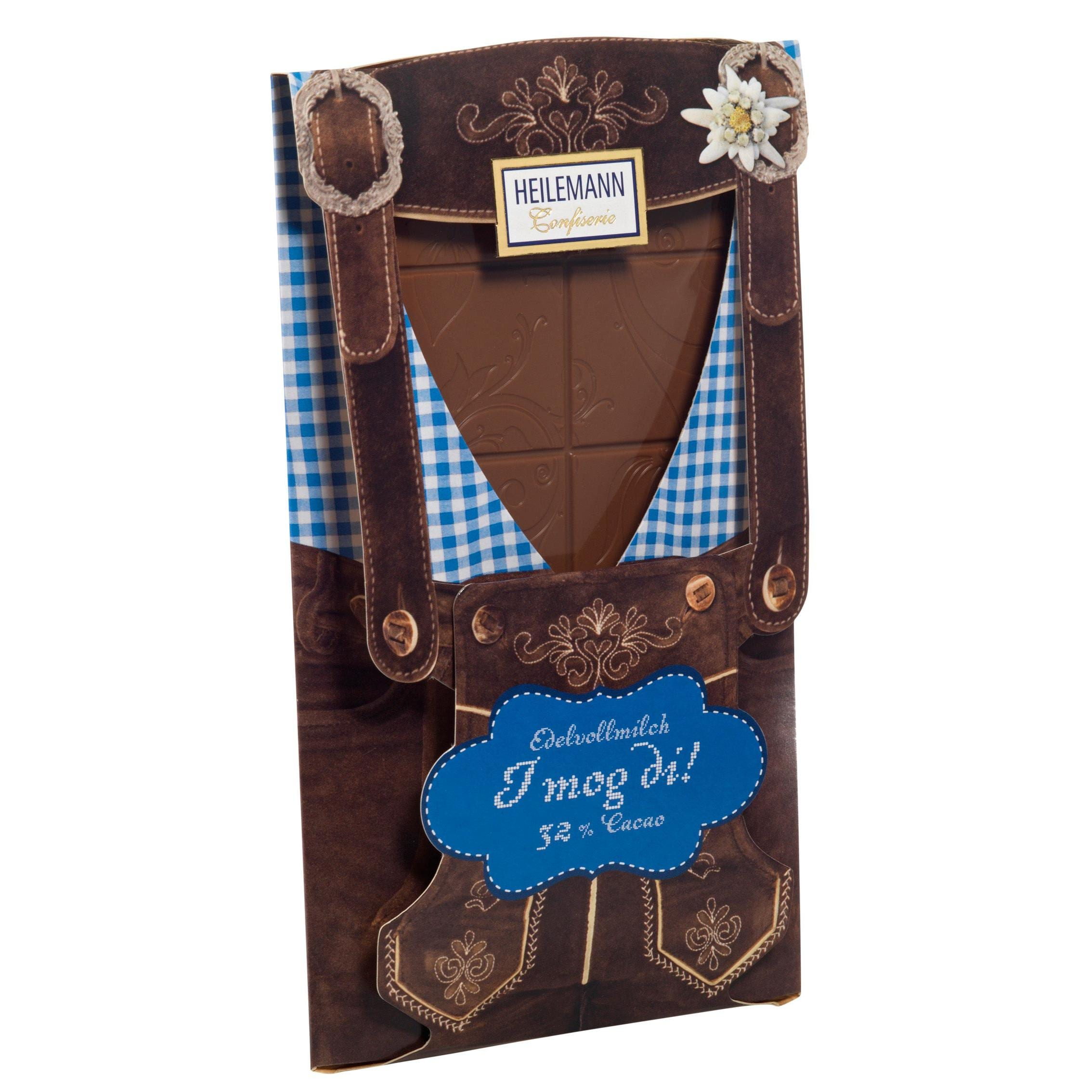 Heilemann - Tafel Lederhose Präsentschokolade - 37g