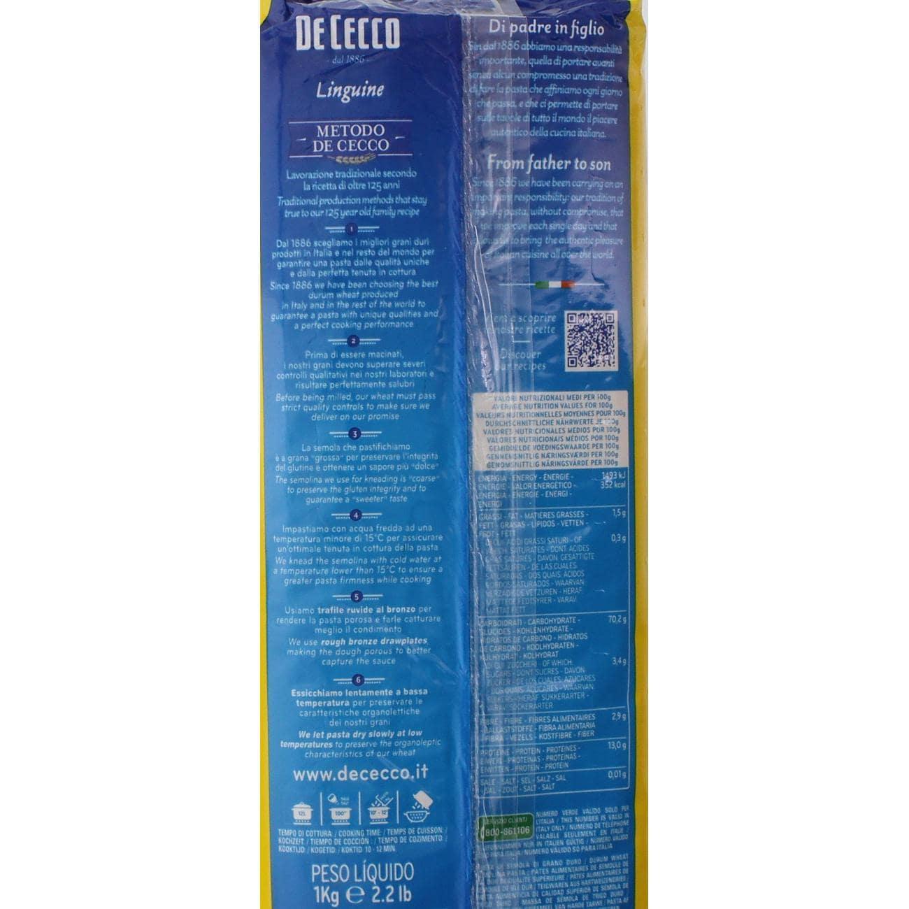 De Cecco - Linguine Nr.7 Pasta Nudeln - 1kg