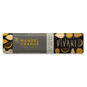 Vivani Bio Rice Choc Mandeln und Orange Schokolade 35g