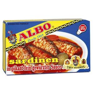 ALBO Sardinen Picantonas Fischkonserve 85g/120g