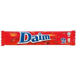 Daim - Riegel mit Milchschokolade & Mandelkaramell - 2er/57g