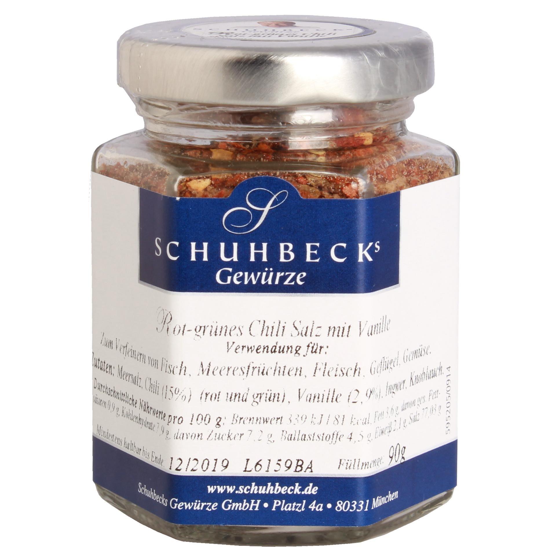 Schuhbecks - Rot-grünes Chili Salz mit Vanille - 90g