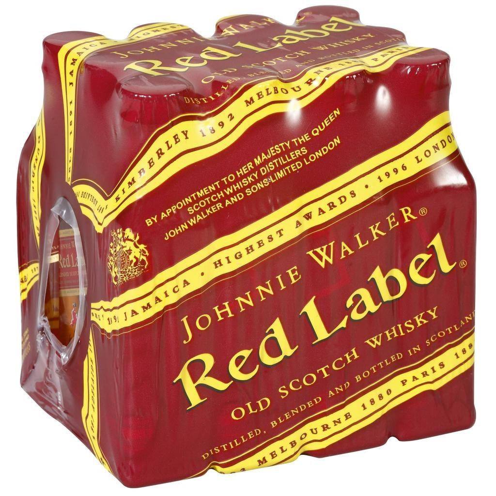 Johnnie Walker Red Label Blended Scotch Whisky 12x0,05l