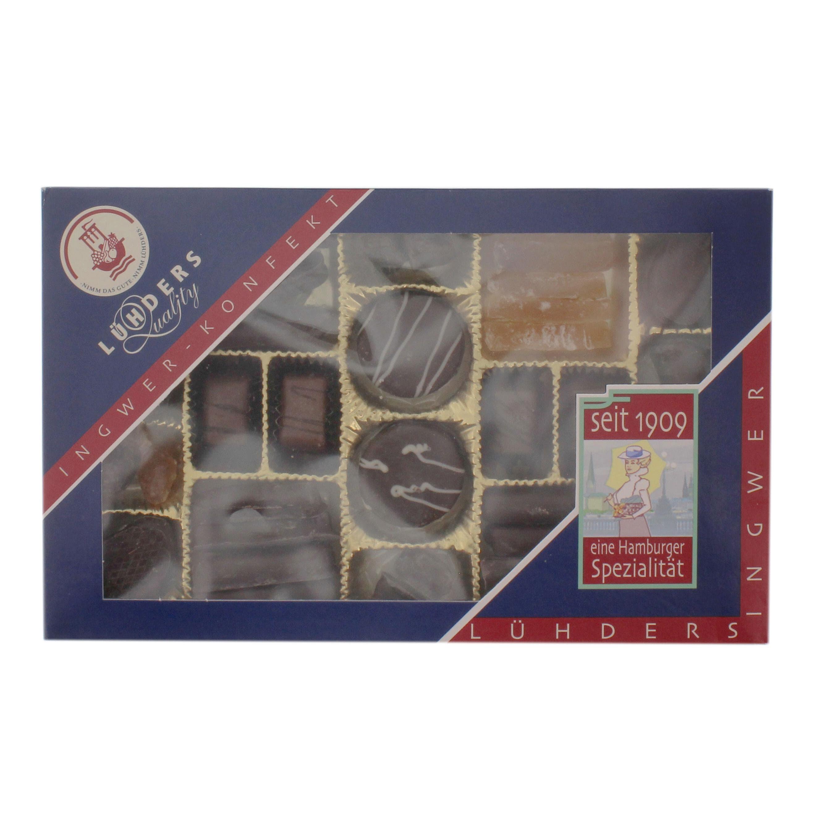 Lühders - Ingwer Konfekt - Schokolade - 250g