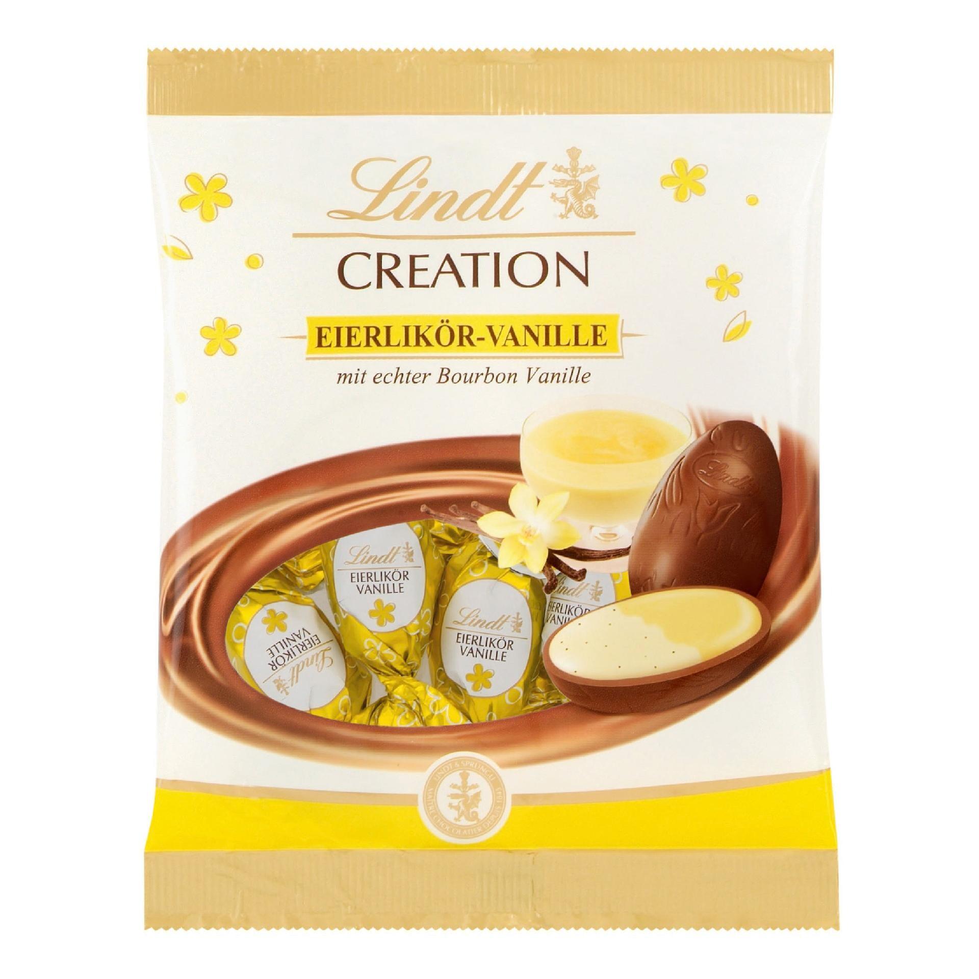 Lindt Creation Eierlikör-Vanille Schokoladen-Eier 90g