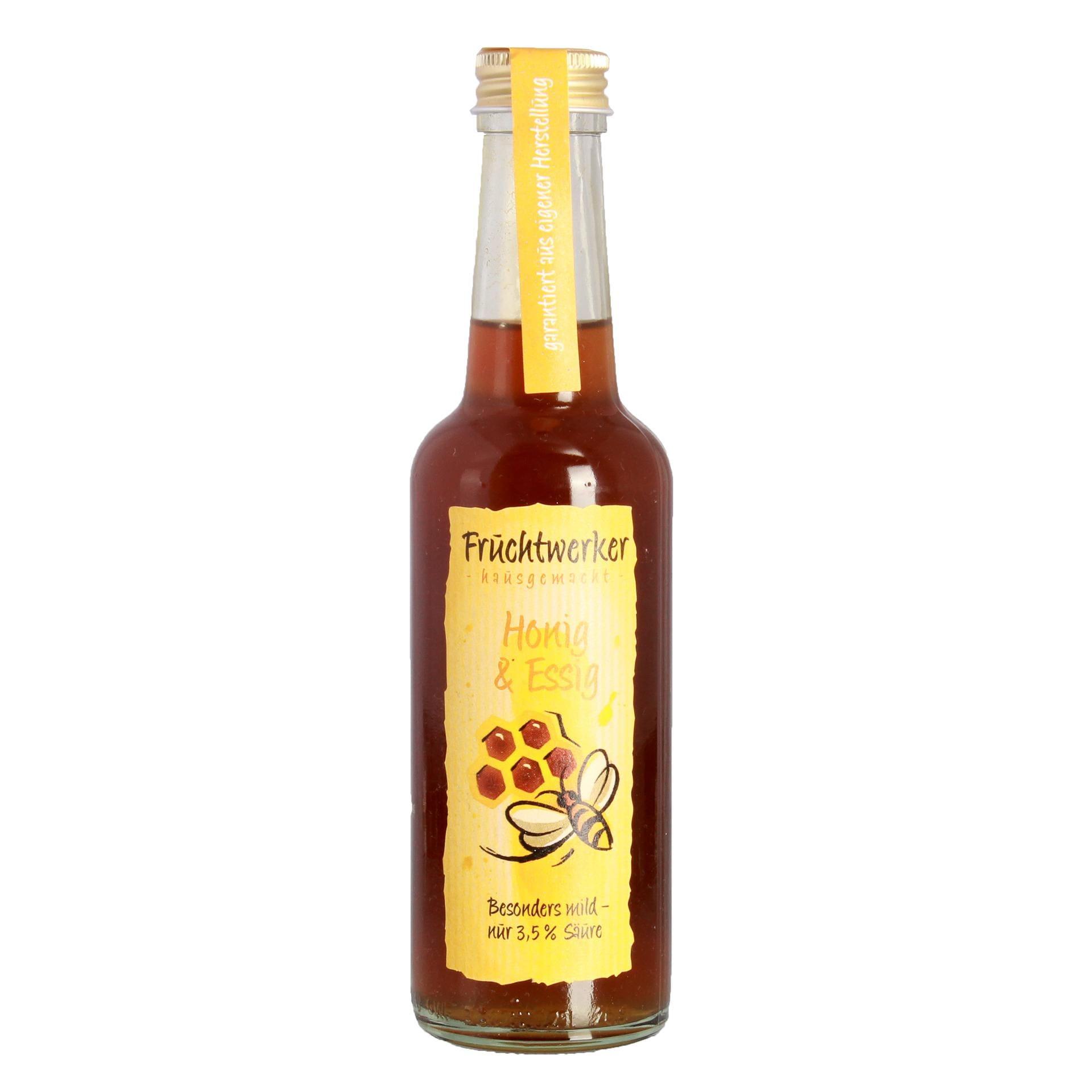 Fruchtwerker Honig & Essig Mischung hausgemacht 250ml