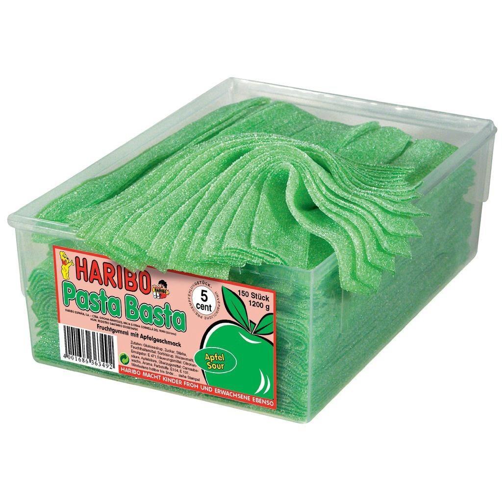 Haribo - Pasta Basta Apfel Fruchtgummis sauer Streifen - 150St/1,125kg