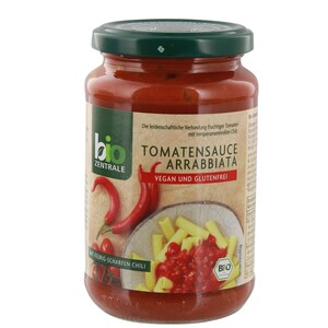 Bio Zentrale Bio Tomatensauce Arrabbiata Pastasauce 350g