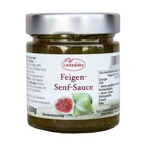 Lazarris - Feigen-Senf-Sauce Feinschmeckersauce Dips Salatdressing - 250g