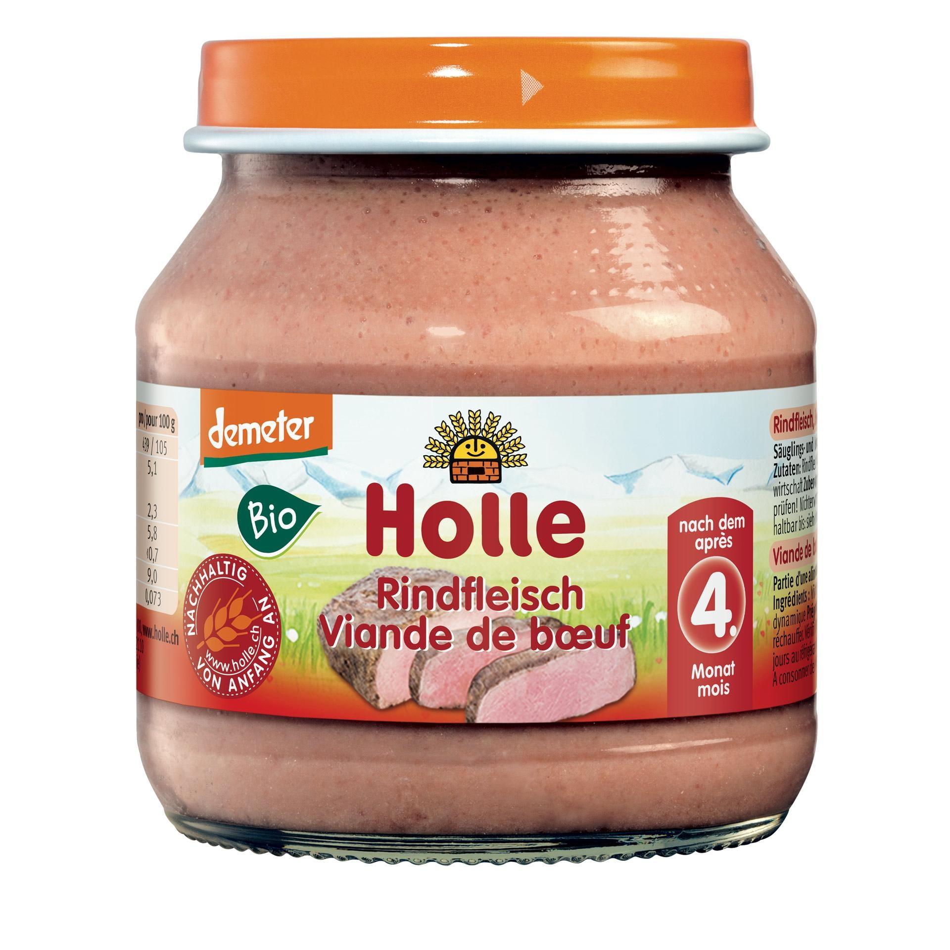 Holle Bio Rindfleisch Demeter Babynahrung 125g