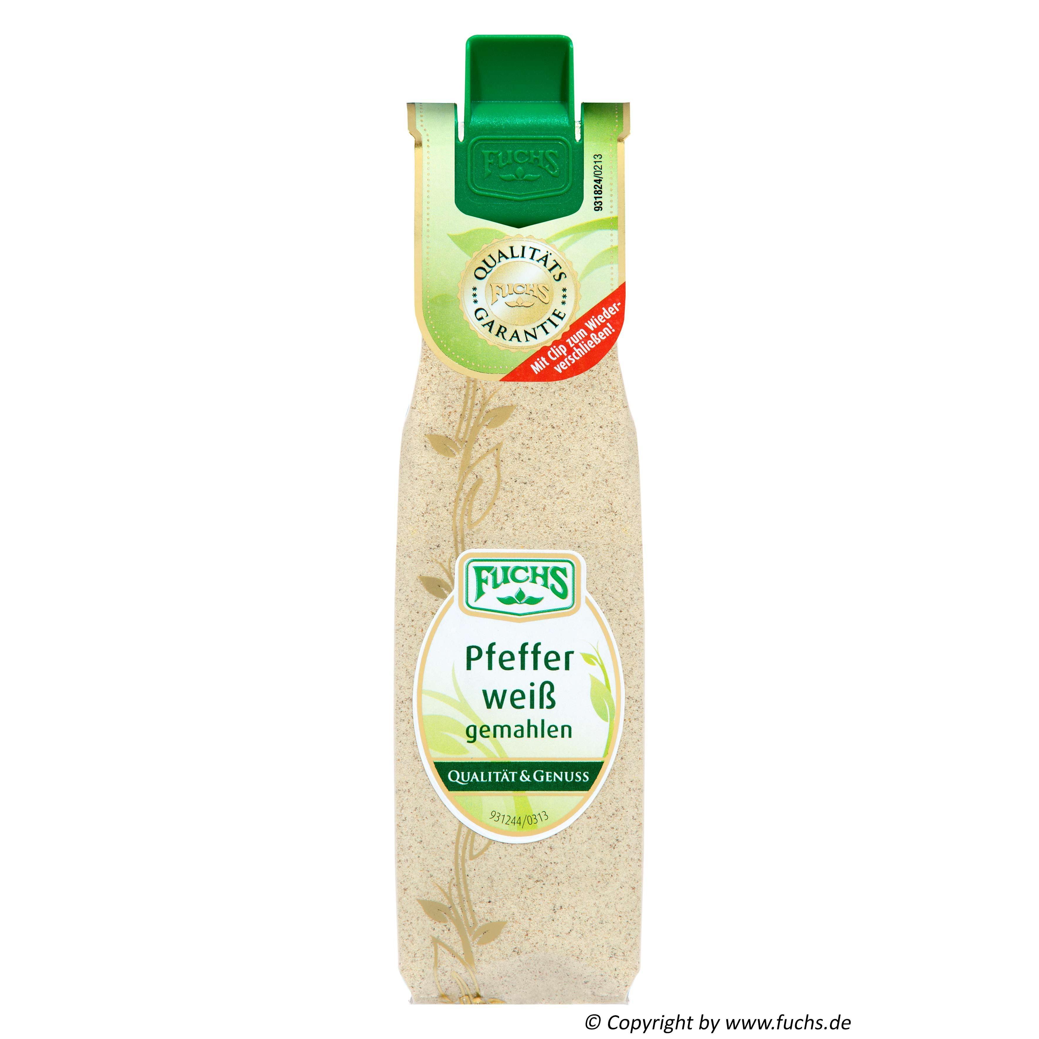 Fuchs - Pfeffer weiß gemahlen - 33g