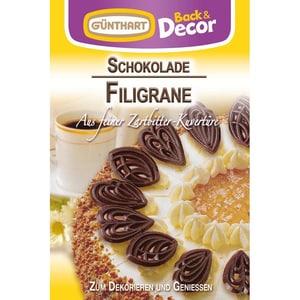 Günthart - Schokoladen-Filigrane Backdekoration - 45g