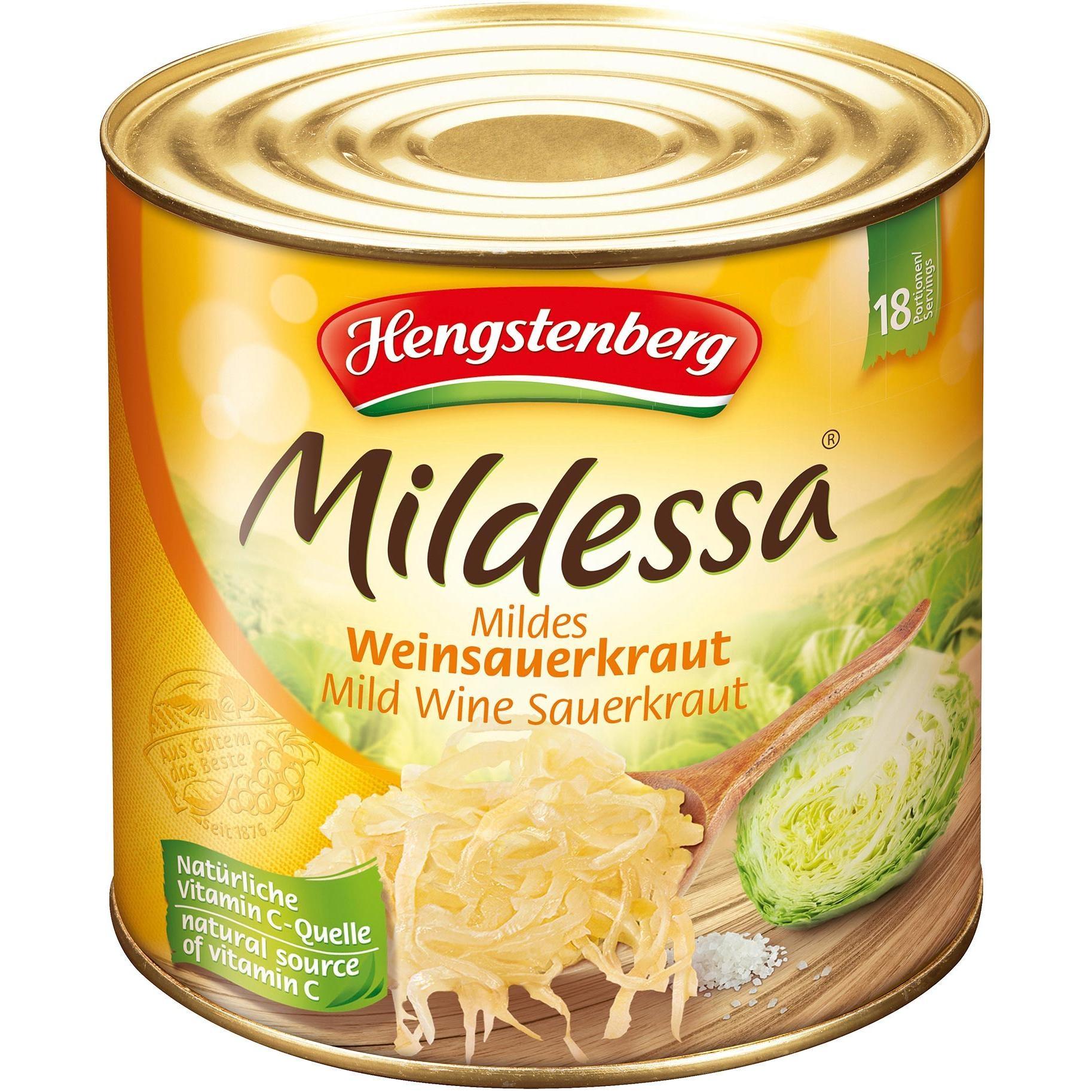 Hengstenberg Mildessa Mildes Weinsauerkraut 2,53kg
