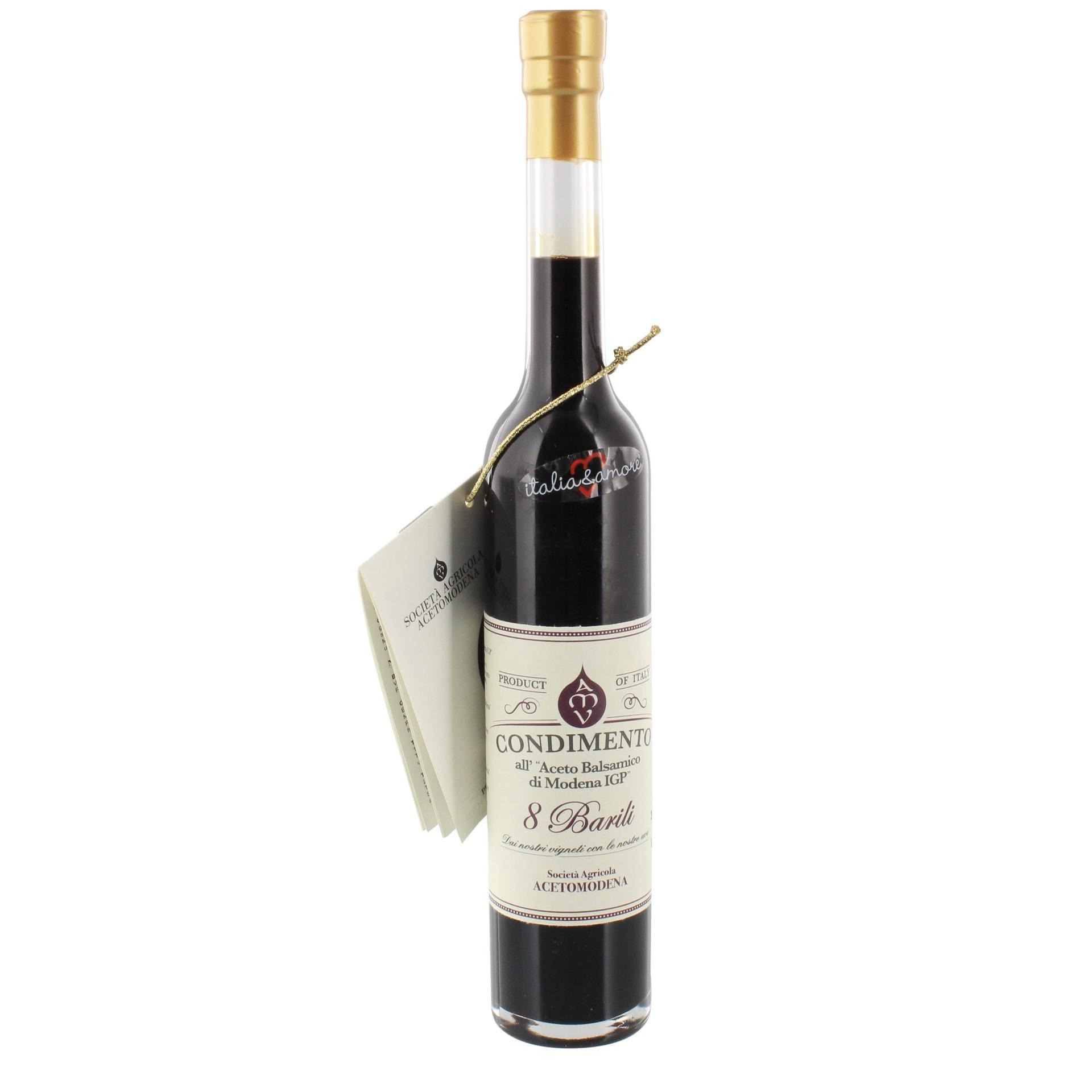 italia & amore - Condimento all Aceto Balsamico di Modena 8 Barili Essig - 100ml