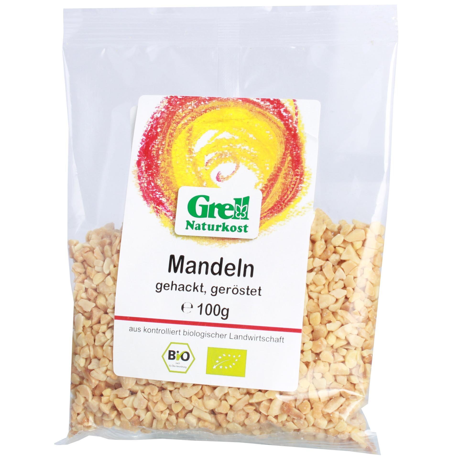 Grell Bio Mandeln gehackt, geröstet 100g