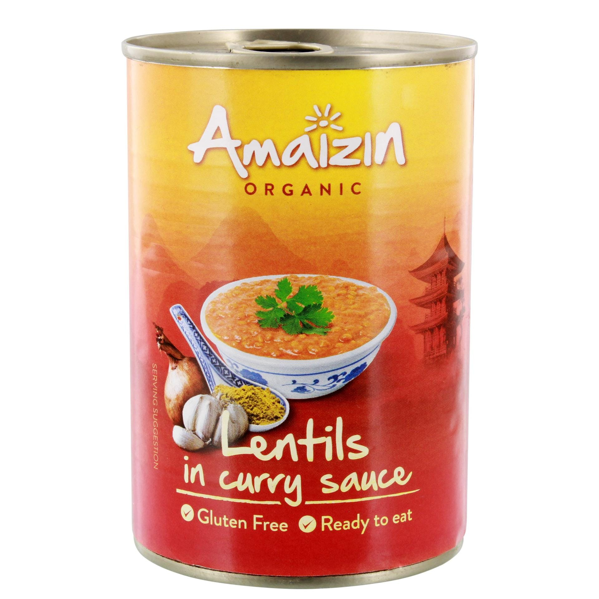 Amaizin Bio Lentils in Currysauce 420g