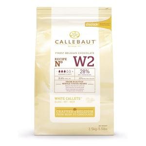 Callebaut Weiße Schokolade Callets Kuvertüre Glasur 2,5kg