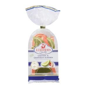 Lühders - Limetten- und Grapefruit-Scheiben - Fruchtgummi Gelee - 175g