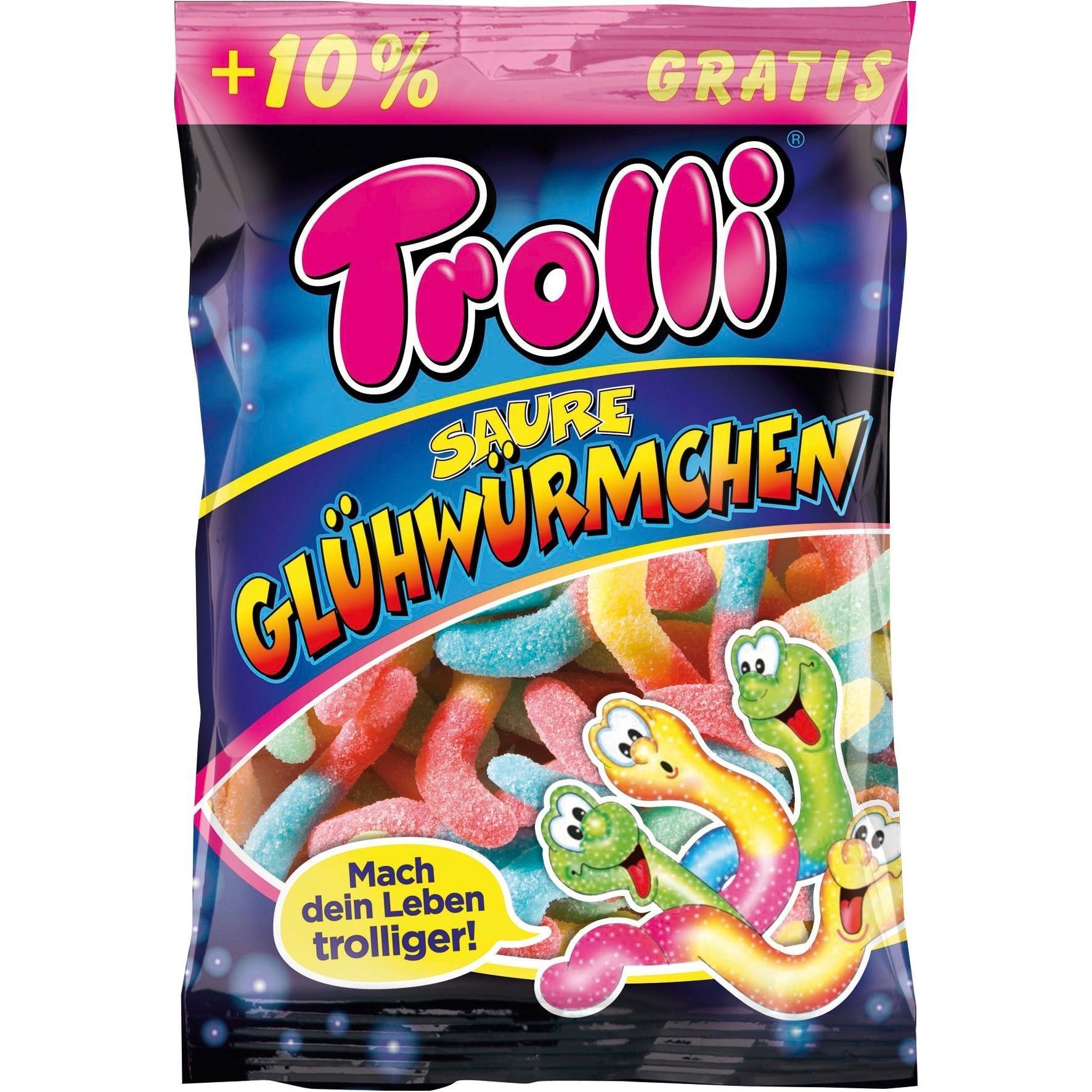 Trolli - Saure Glühwürmchen Fruchtgummi - 200g