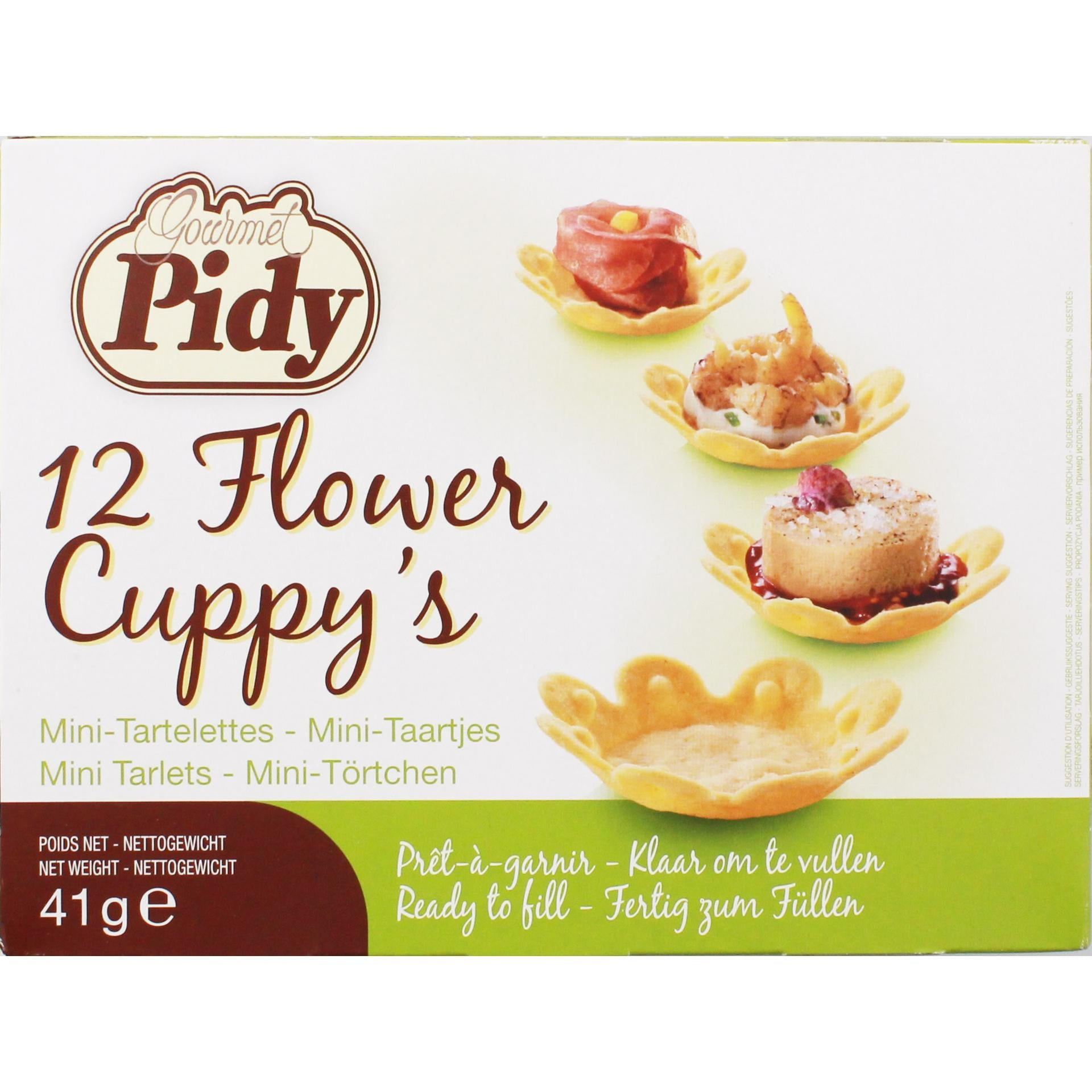 Pidy - Flower Cuppy's Mini-Törtchen - 41g 12St