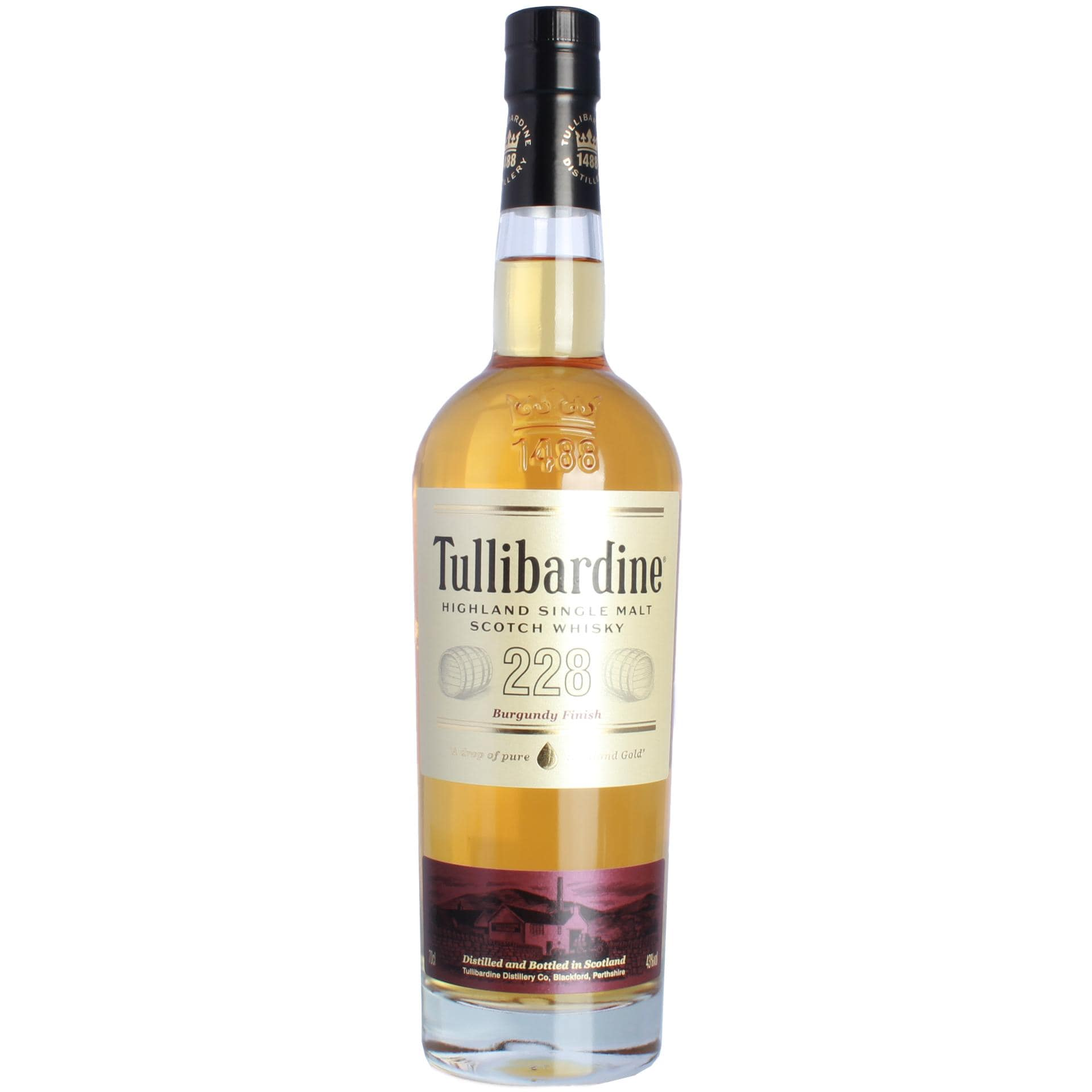 Tullibardine 228 Burgundy Finish Scotch Whisky 0,7l