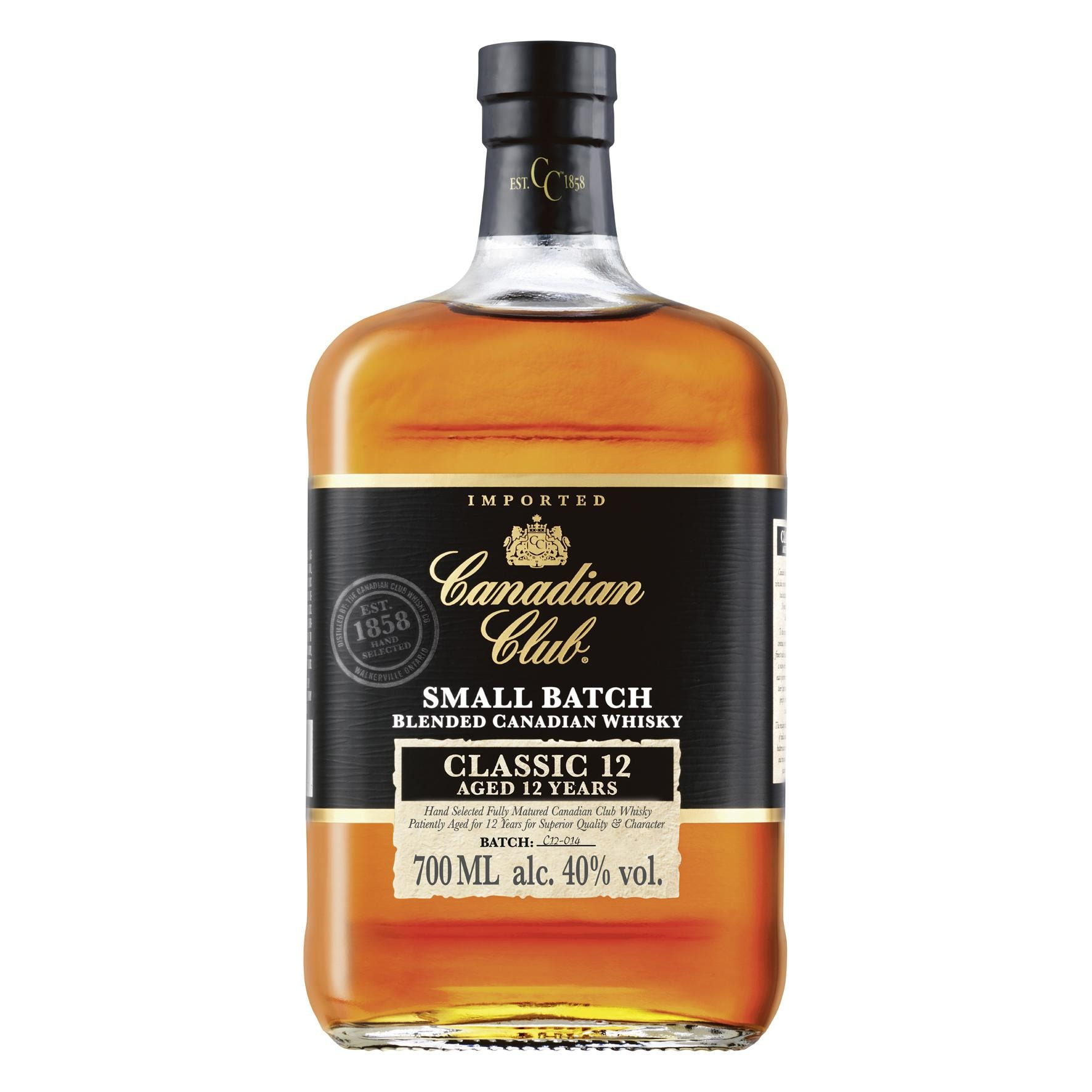 Canadian Club 12 Small Batch Blended Canadian Whisky 0,7l