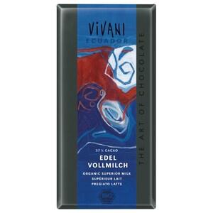 Vivani Bio Edel-Vollmilch 37% Kakao Schokolade 100g