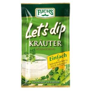 Fuchs Let's dip Kräuter Würzmischung 12,5g