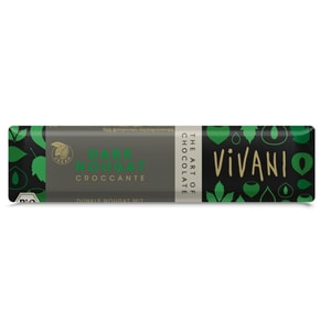 Vivani Bio Dark Nougat Croccante Schokolade 35g
