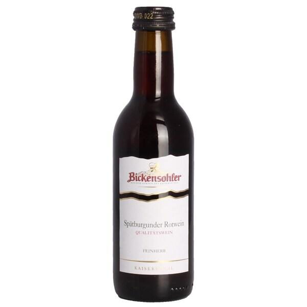 Bickensohler Spätburgunder QbA feinherb 12,5%Rotwein in Piccoloflasche 0,25l