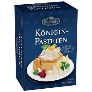 Jensen's -Königin-Pasteten Blätterteig Gebäck - 4Stück/100g