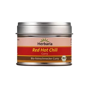 Herbaria Bio Red Hot Chili Curry Gewürzmischung extra scharf 30g