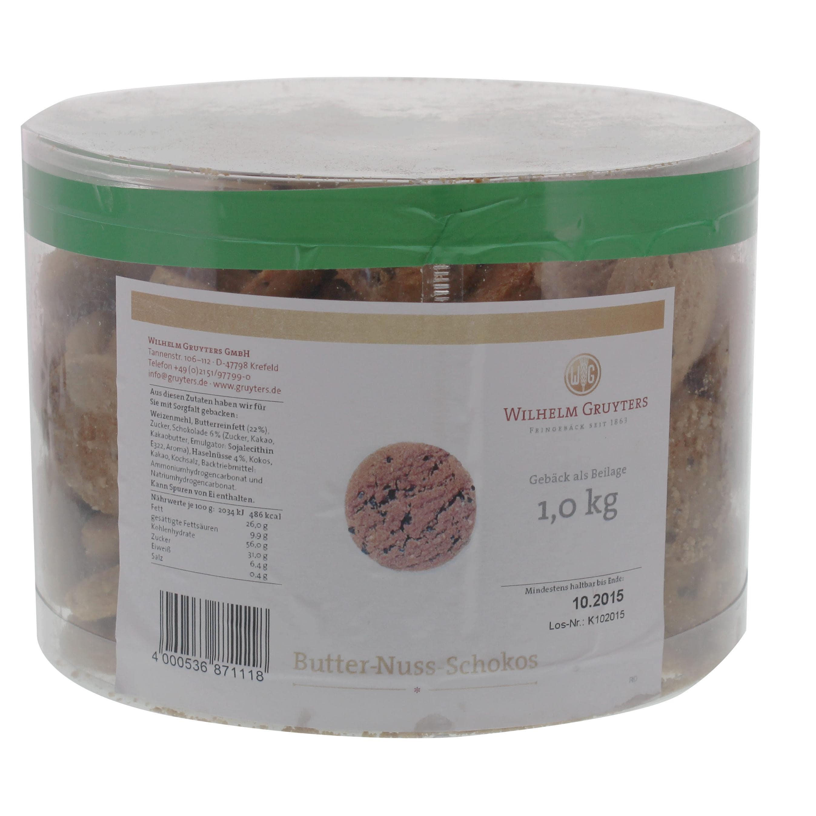 Gruyters - Butter-Nuss-Schokos - Gebäck - 1kg