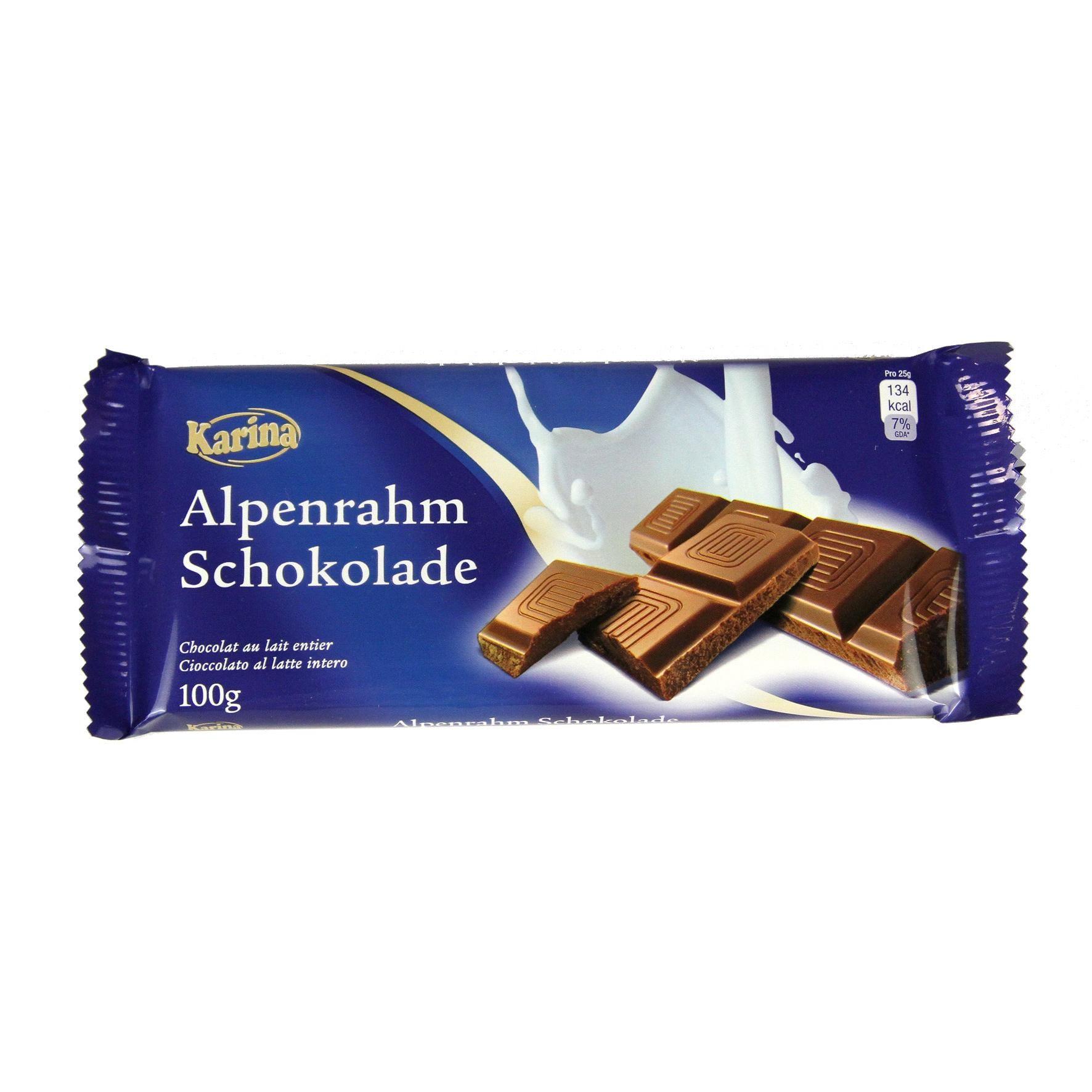 Karina - Alpenrahm-Schokolade - 100g