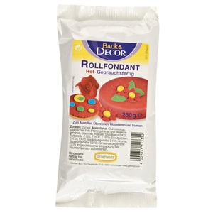 Günthart - Back & Decor Rollfondant Rot - 250g