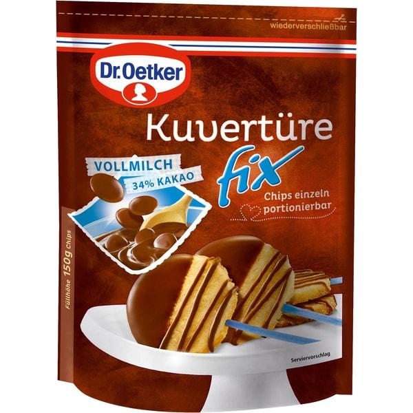 Dr.Oetker - Kuvertüre Fix Vollmilch Kuchenguss - 150g