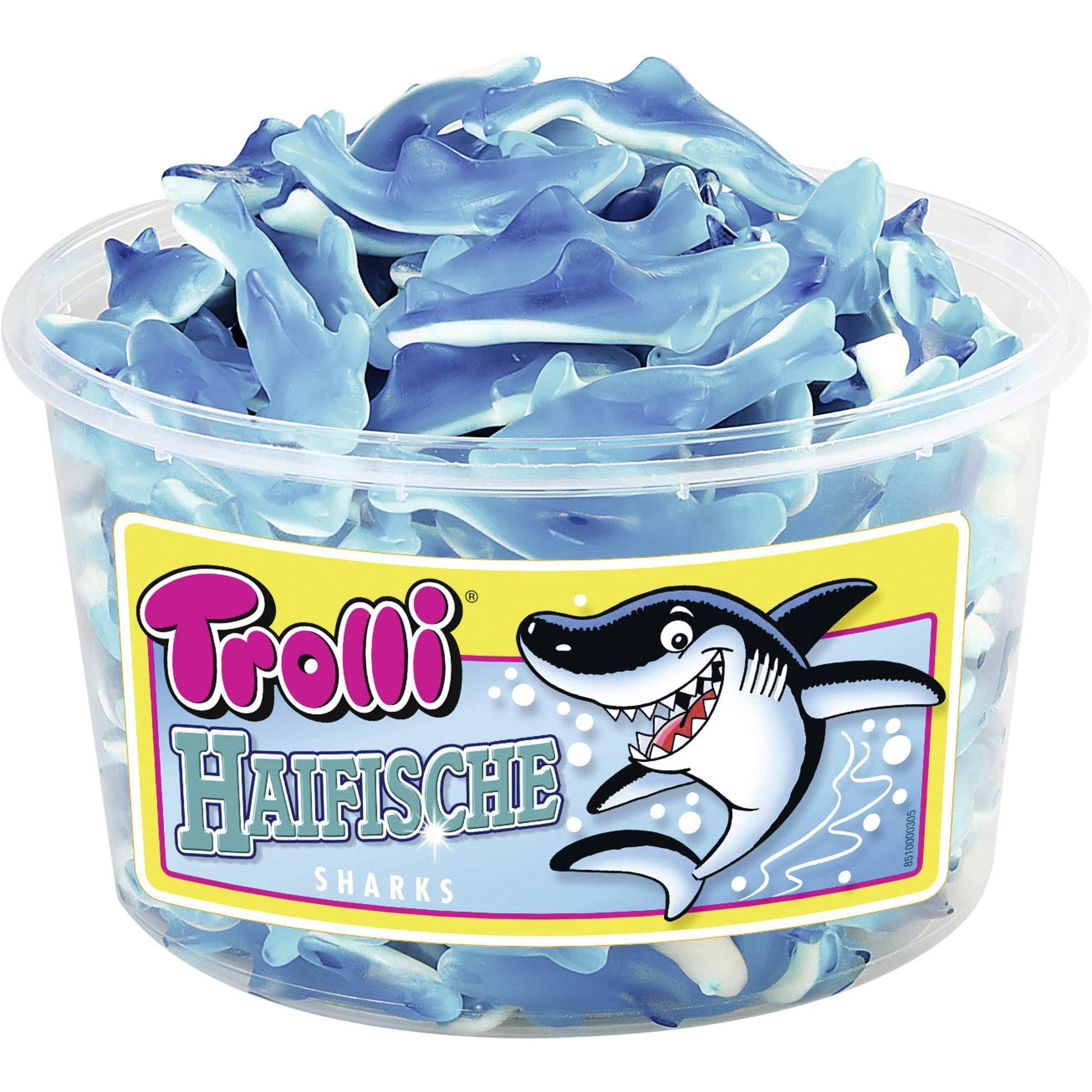 Trolli - Haifische - Fruchtgummi - 150St/1200g