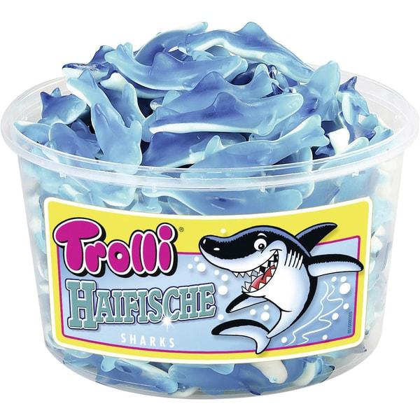 Trolli Haifische Fruchtgummi 150 Stück, 1200g