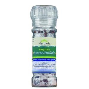 Herbaria Bio Biergarten Brotzeitmühle Pfeffer Salz Mischung 65g