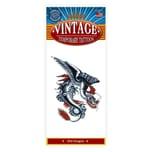 Tinsley Weißer Drache Vintage Klebe-Tattoo