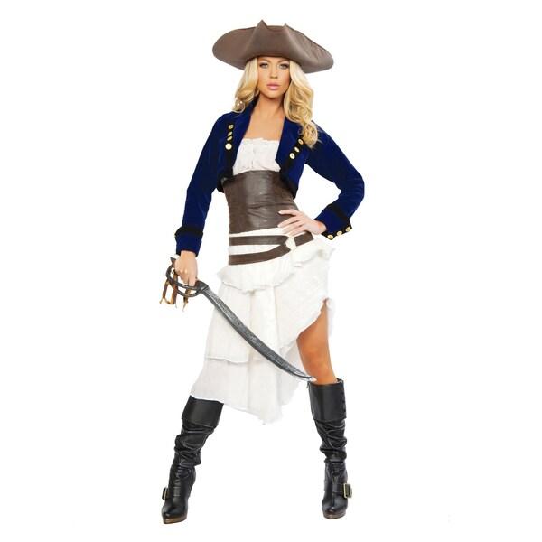 Roma Costumes Sexy Piratenkommandantin Kostüm