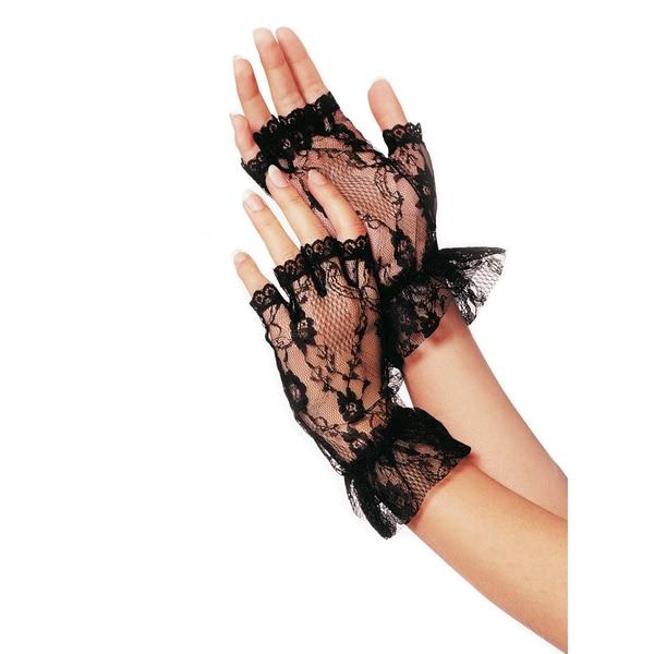 Leg Avenue Fingerlose Netzstrumpf Handschuhe