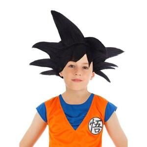 Dragonball Z Son-Goku Perücke für Kinder schwarz