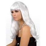 Boland Lange Haare weiß Perücke