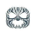 Tinsley Tribal Zebra Gesicht-Klebetattoo