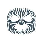 Tinsley Tribal Zebra Gesicht-Klebetattoo