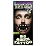 Tinsley Grinsekatze Riesenmund Klebe-Tattoo