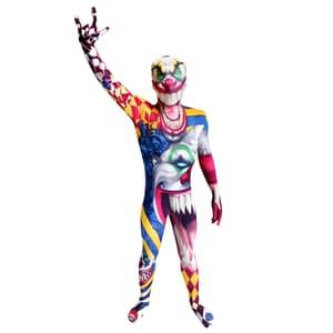 Morphsuits Morphsuit Kinder Clown Ganzkörperkostüm
