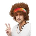 Fun World Afro Hippie Perücke mit Stirnband