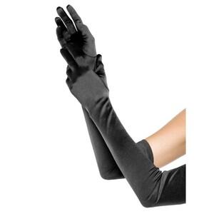 Leg Avenue Satin Handschuhe extra lang schwarz